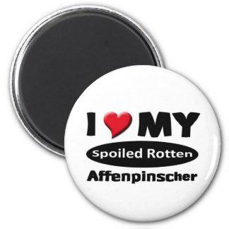 I love my Spoiled Rotten Affenpinscher Magnet