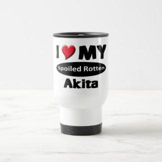 I love my spoiled rotten Akita Travel Mug