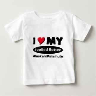 I love my spoiled rotten Alaskan Malamute Tee Shirt