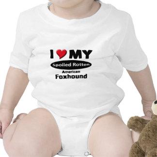 I love my spoiled rotten, American Foxhound Romper