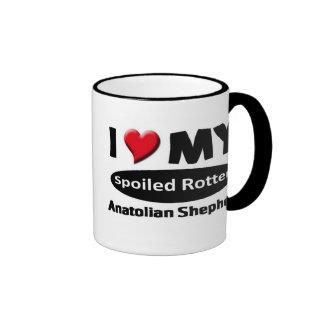 I love my spoiled rotten Anatolian Shepherd Ringer Mug