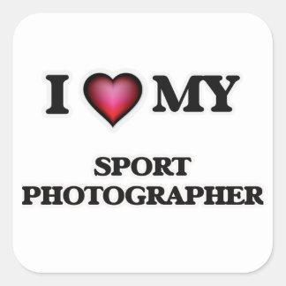 I love my Sport Photographer Square Sticker