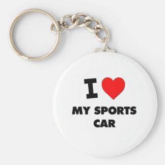 I love My Sports Car Keychain