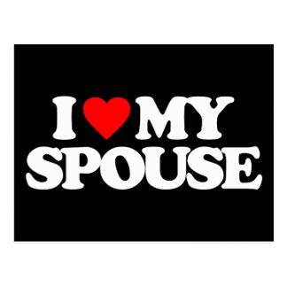 I LOVE MY SPOUSE POSTCARD