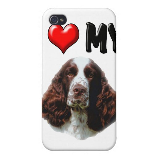 I Love My Springer Spaniel Case For iPhone 4