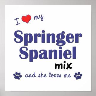 I Love My Springer Spaniel Mix (Female Dog) Poster