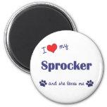 I Love My Sprocker (Female Dog) Refrigerator Magnets