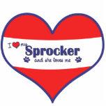 I Love My Sprocker (Female Dog) Photo Sculpture