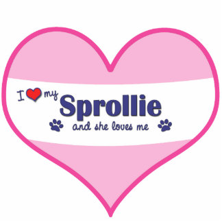 I Love My Sprollie Female Dog Photo Cut Outs