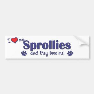 I Love My Sprollies Multiple Dogs Bumper Sticker