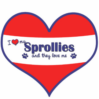 I Love My Sprollies Multiple Dogs Acrylic Cut Out