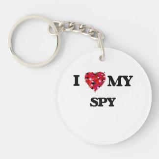 I love my Spy Single-Sided Round Acrylic Keychain