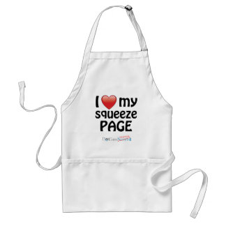 I Love My Squeeze Page Adult Apron