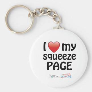 I Love My Squeeze Page Keychain