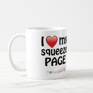 I Love My Squeeze Page Coffee Mugs