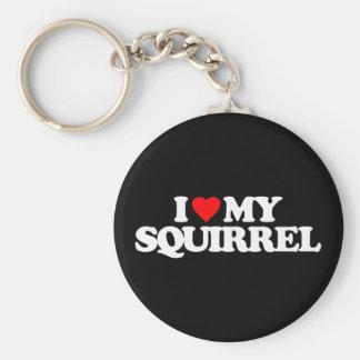 I LOVE MY SQUIRREL BASIC ROUND BUTTON KEYCHAIN