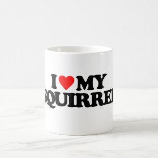 I LOVE MY SQUIRREL COFFEE MUG