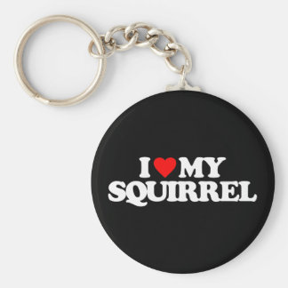 I LOVE MY SQUIRREL KEYCHAIN