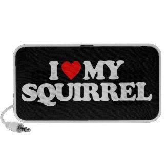 I LOVE MY SQUIRREL MINI SPEAKERS