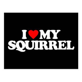I LOVE MY SQUIRREL POSTCARD