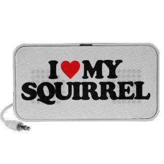 I LOVE MY SQUIRREL TRAVEL SPEAKER