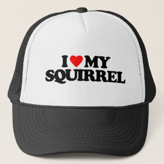 I LOVE MY SQUIRREL TRUCKER HAT