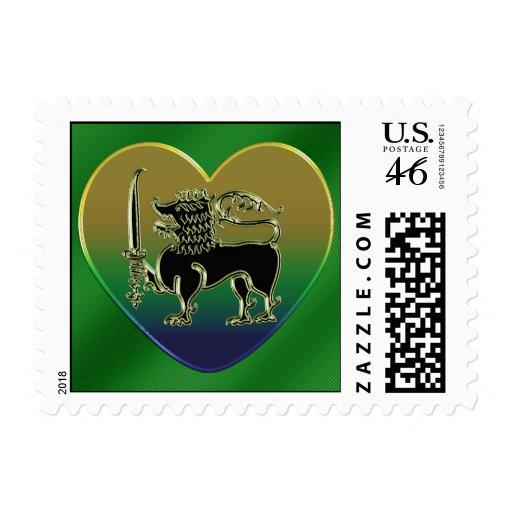 I love my Sri Lanka postage