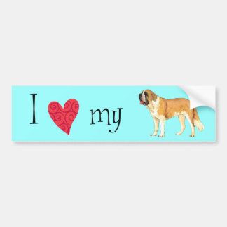 I Love my St. Bernard Bumper Sticker