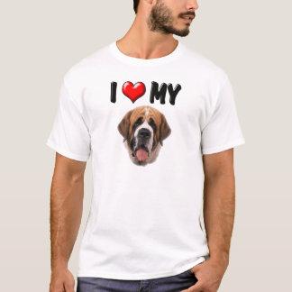 I Love My St Bernard T-Shirt