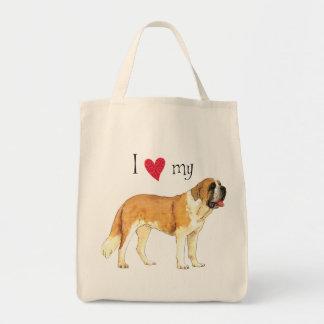I Love my St. Bernard Tote Bag