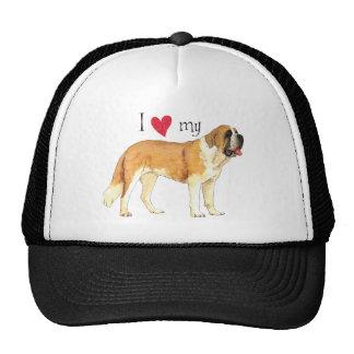 I Love my St. Bernard Trucker Hat