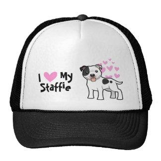 I Love My Staffordshire Bull Terrier Trucker Hat