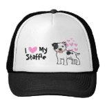 I Love My Staffordshire Bull Terrier Trucker Hats