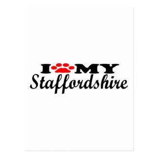 I Love My Staffordshire Postcard