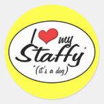 I Love My Staffy (It's a Dog) Stickers