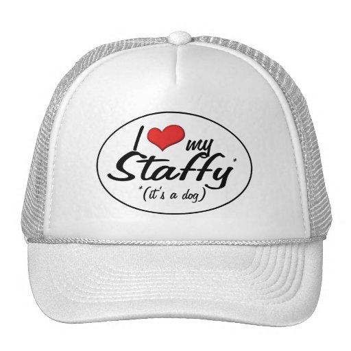 I Love My Staffy (It's a Dog) Trucker Hat