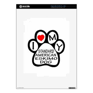 I Love My Standard American Eskimo Dog Decals For The iPad 2