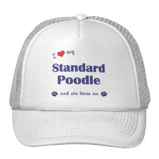 I Love My Standard Poodle Female Dog Hat