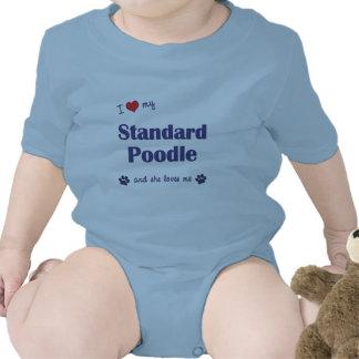 I Love My Standard Poodle (Female Dog) Baby Creeper