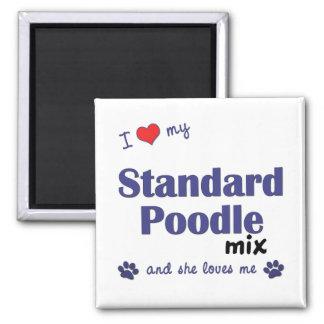 I Love My Standard Poodle Mix (Female Dog) 2 Inch Square Magnet