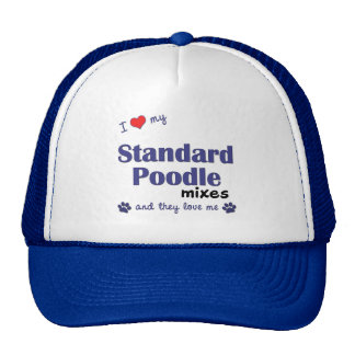 I Love My Standard Poodle Mixes Multiple Dogs Mesh Hat
