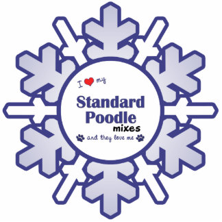 I Love My Standard Poodle Mixes (Multiple Dogs) Photo Sculpture Ornament
