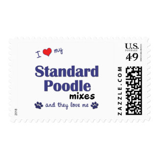I Love My Standard Poodle Mixes (Multiple Dogs) Postage