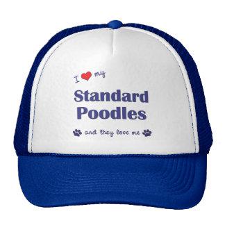 I Love My Standard Poodles Multiple Dogs Hats