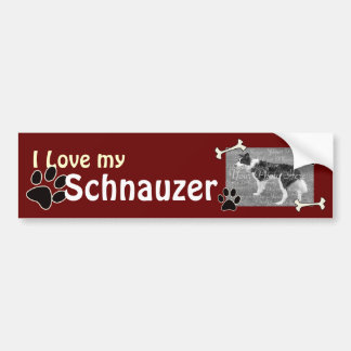 I love my Standard Schnauzer Bumper Sticker