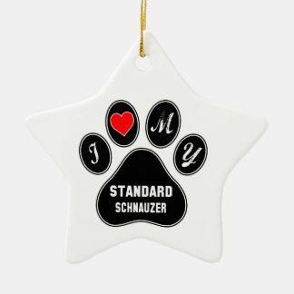 I love my Standard Schnauzer. Ceramic Ornament