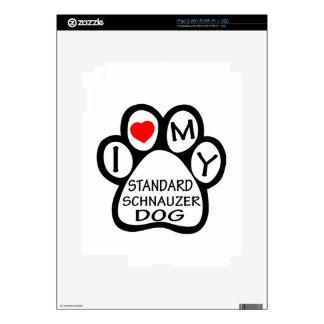 I Love My Standard Schnauzer Dog Decal For The iPad 2