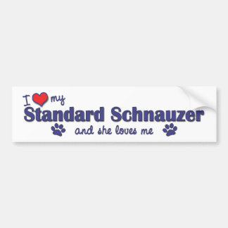 I Love My Standard Schnauzer (Female Dog) Bumper Sticker