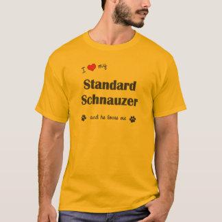 I Love My Standard Schnauzer (Male Dog) T-Shirt