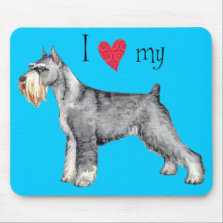 I Love my Standard Schnauzer Mouse Pad